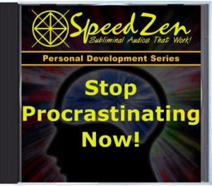 Stop Procrastinating Subliminal CD