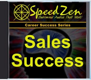 Sales Success Subliminal CD