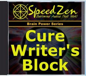 Cure Writer's Block Subliminal CD